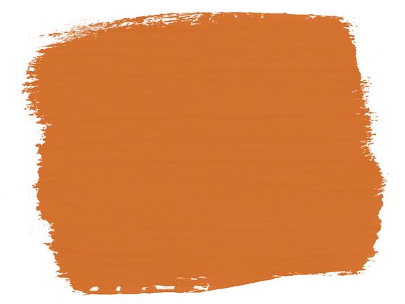 Die Farbkarte mit der Chalk Paint Barcelona Orange von Annie Sloan überzeugt durch die leuchtende Farbe