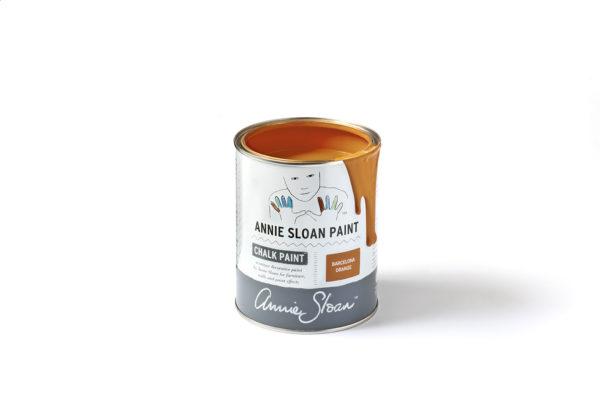 Barcelona Orange Chalk Paint von Annie Sloan im praktischen Farbdöschen erhältlich
