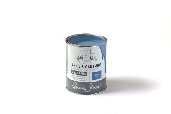 Greek Blue Chalk Paint von Annie Sloan in verschiedenen Größen im Farbeimer erhältlich