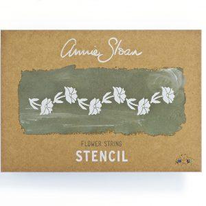 """A4 Schablone Annie Sloan """"Flower String"""""""