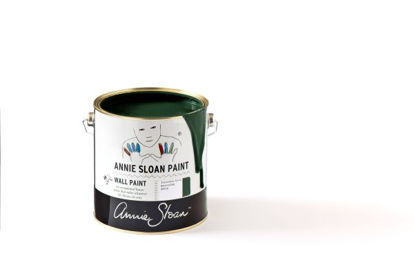 annie sloan amsterdam green wallpaint