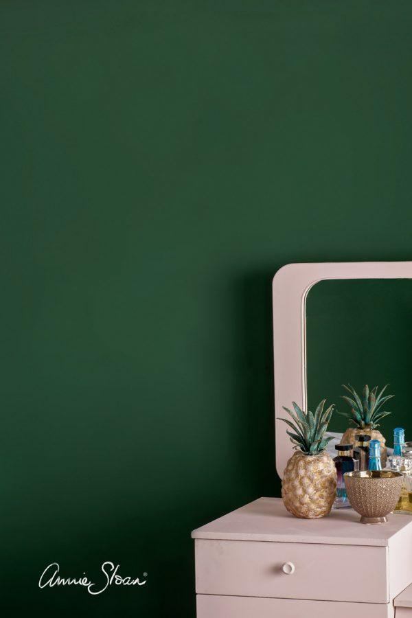 amsterdam green wandfarbe mit antoinette farbton von annie sloan