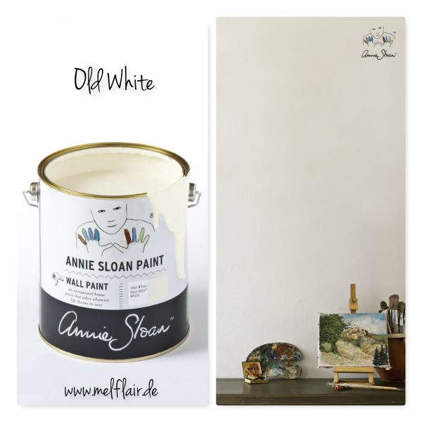 old white wallpaint annie sloan