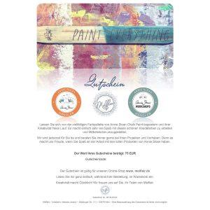 Gutscheine für unseren Annie Sloan Shop – Jetzt 10% bis 08.12!