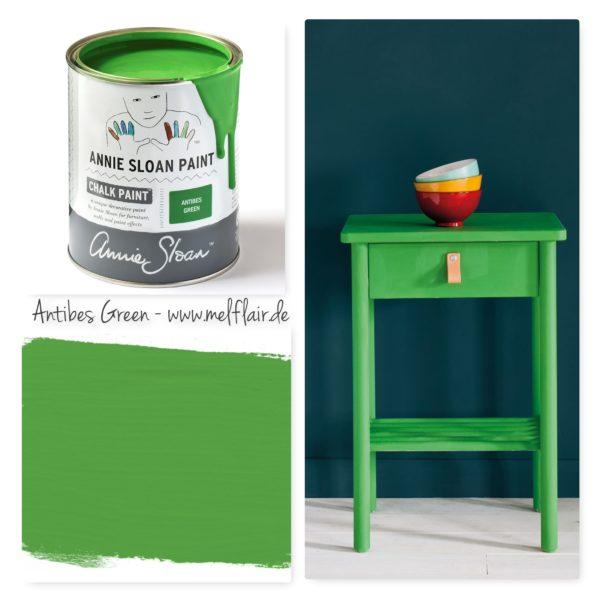 Antibes Green Annie Sloan Kreidefarbe - Collage