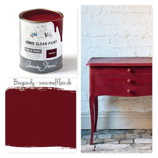 Burgundy Annie Sloan Kreidefarbe - Collage