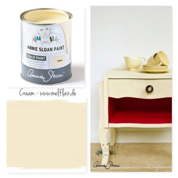 Cream Annie Sloan Kreidefarbe - Collage
