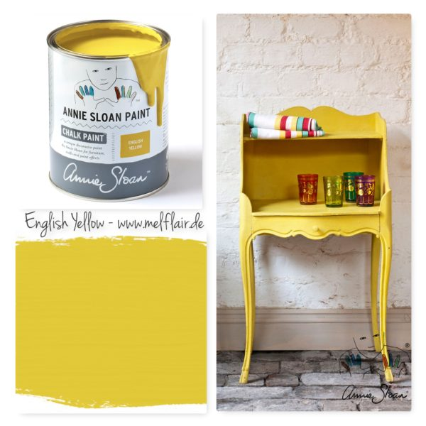 English Yellow Annie Sloan Kreidefarbe - Collage