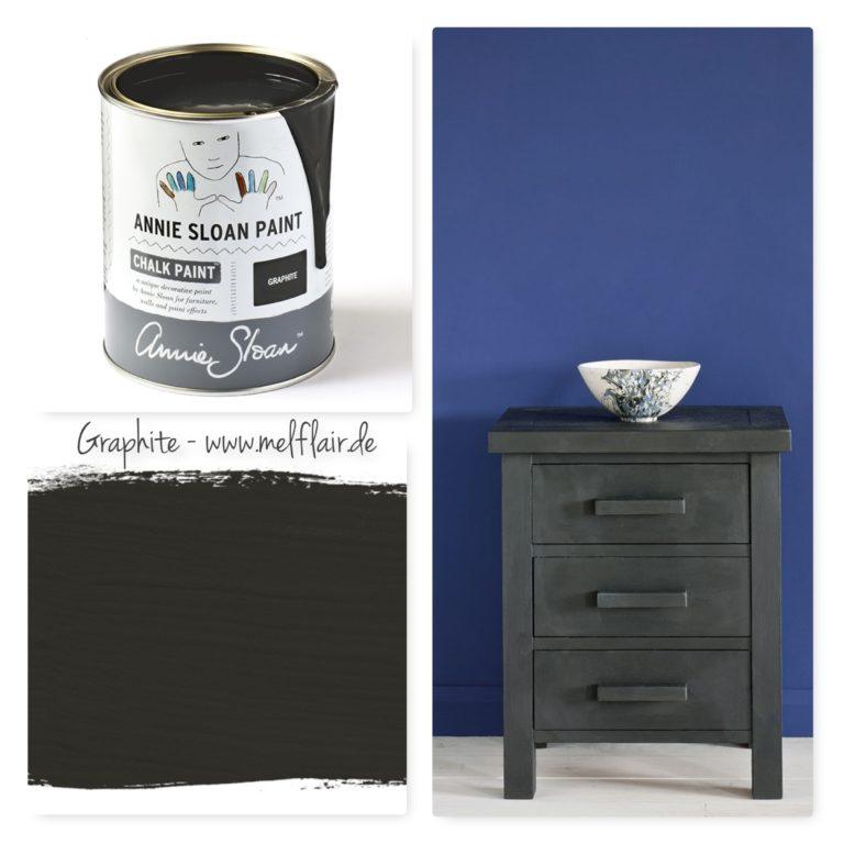 Graphite Annie Sloan Kreidefarbe - Collage