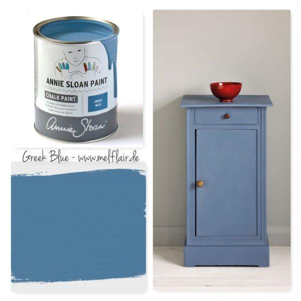 Greek Blue Annie Sloan Kreidefarbe - Collage