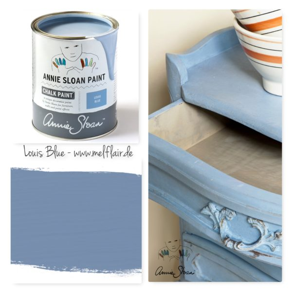 Louis Blue Annie Sloan Kreidefarbe - Collage
