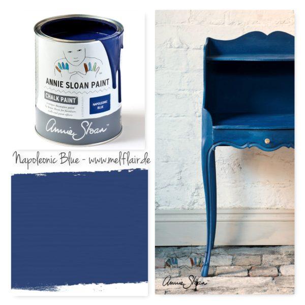 Napoleonic Blue Annie Sloan Kreidefarbe - Collage
