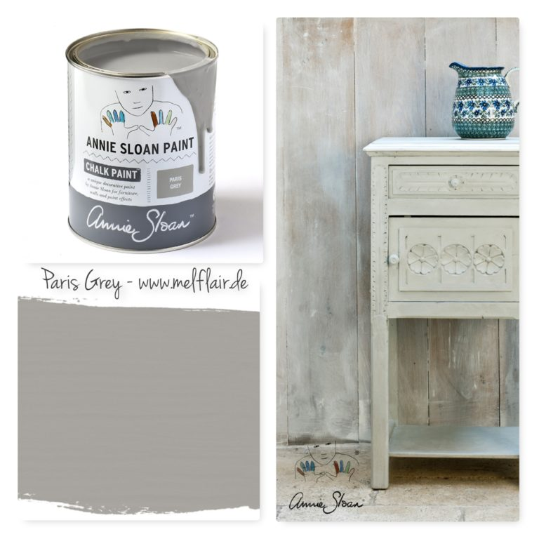 Paris Grey Annie Sloan Kreidefarbe - Collage