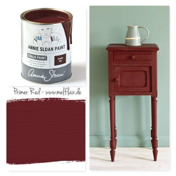 Primer Red Annie Sloan Kreidefarbe - Collage