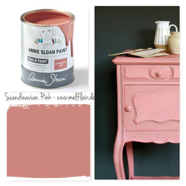 Scandinavian Pink Annie Sloan Kreidefarbe - Collage