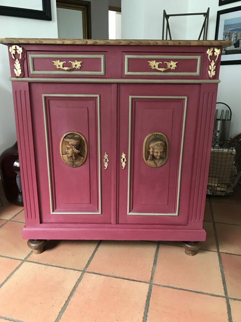 Möbel nachher - mit Kreidefarbe gestrichen